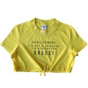 Cropped Feminino Infantil Girl Power
