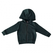 Jaqueta Moletom Infantil Masculino Verde Escuro