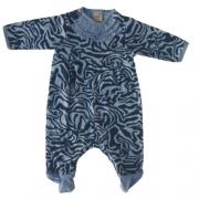 Macacão Bebê Feminino Azul Zebra Green By Missako
