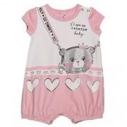 Macacão Bebê Feminino Rosa Ursinha