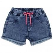 Short Jeans Infantil Feminino com Barra Desfiada