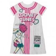 Vestido Feminino Infantil Looney Tunes Lolla Rosa