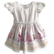 Vestido Feminino Festa Bebê com Saia de Cupcakes Anjos Baby