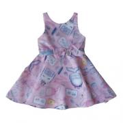 Vestido Festa Infantil Feminino Unicórnios Mon Sucré