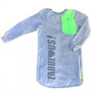Vestido Infantil  Feminino Cinza com Bolso Neon