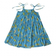 Vestido Infantil Feminino Alcinha Guarda-Chuva