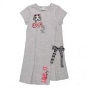 Vestido Infantil Feminino Cinza Estampado