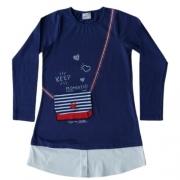 Vestido Infantil Feminino com Barra de Camisa Momi