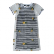 Vestido Infantil Feminino com Tule Abacaxis