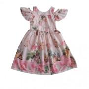 Vestido Infantil Feminino Floral