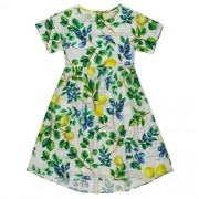 Vestido Infantil Feminino Limões Sicilianos