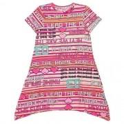 Vestido Infantil Feminino Listras Barra Assimétrica