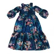Vestido Infantil Feminino Longo Estampado Mon Scuré