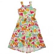 Vestido Infantil Feminino Midi Frutinhas