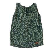 Vestido Infantil Feminino Regata Zebra Green By Missako