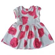 Vestido Infantil Feminino Rosas