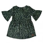Vestido Infantil Feminino Verde Zebra