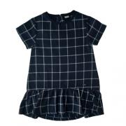 Vestido Infantil Feminino Xadrez Preto Green By Missako