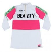 Vestido Infantil Feminino Moletinho com Faixa Pink