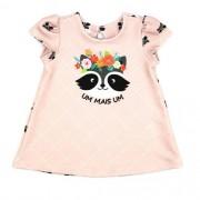 Vestido Infantil Feminino Rose Guaxinim