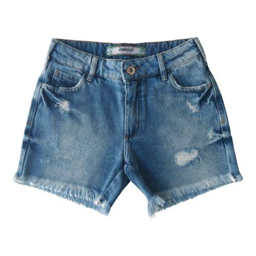 Bermuda Infantil Feminina Jeans