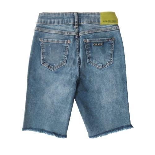 Bermuda Infantil Feminina Jeans Barra Desfiada Colcci Fun
