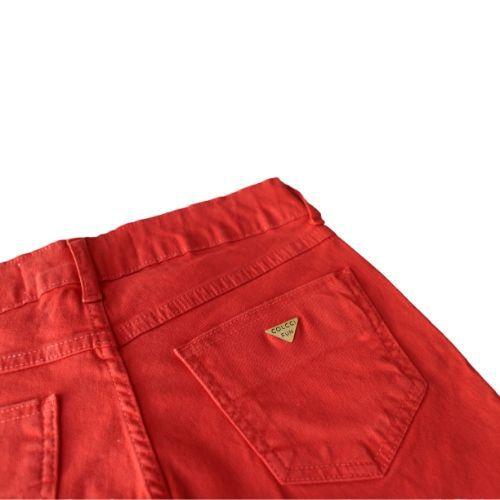Bermuda Infantil Feminina Sarja Vermelha