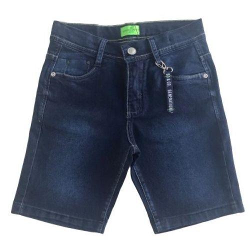 Bermuda Jeans Infantil Masculina com Chaveiro