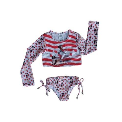 Biquini Infantil Feminino Cropped e Calcinha