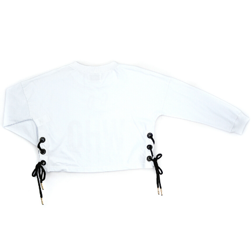 Cropped Feminino Infantil Branco Cool Fashion
