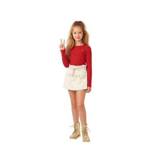 Blusa Infantil Feminina Canelada