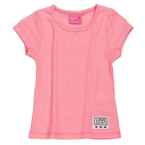 Blusa Infantil Feminina Malha Canelada Rosa Barbie