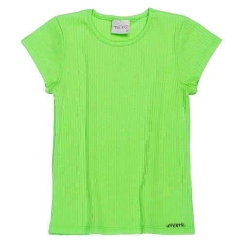 Blusa Infantil Feminina Malha Canelada Verde Neon