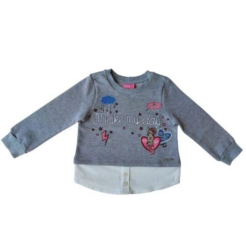 Blusa Infantil Feminina Moletom Camisa Momi