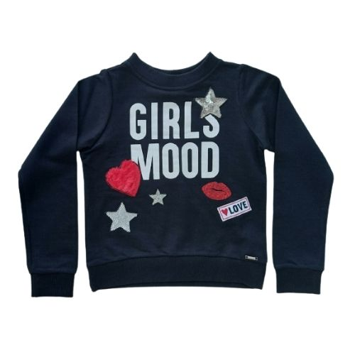 Blusa Infantil Feminina Moletom Girls Mood