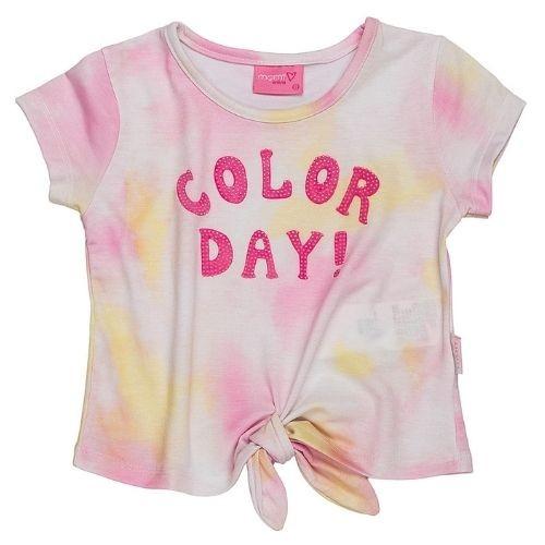 Blusa Infantil Feminina Tie Dye com Amarração