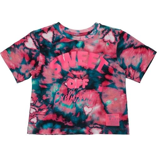 Blusa Infantil Feminina Tie Dye Sweet Off Exclusivity