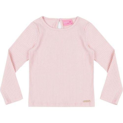 Blusa Infantil Feminina Malha Canelada Rosa