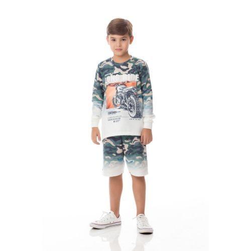 Blusa Infantil Masculina Moletinho Camuflada