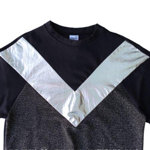 Blusa Infantil Feminina Preta com Detalhe Metalizado