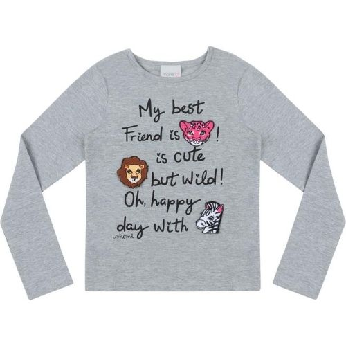 Blusa Infantil Feminina Safari My Best Friends