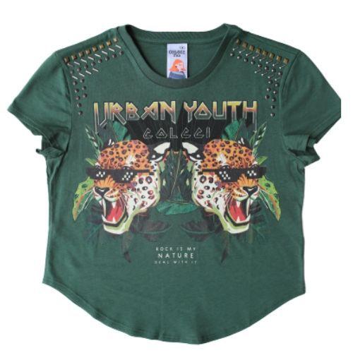 Blusa Infantil Feminina Verde Urban Youth
