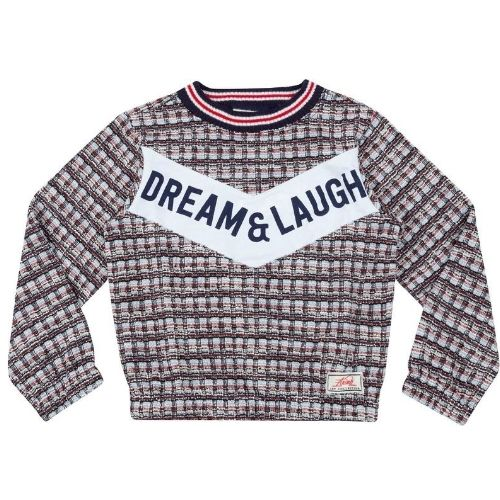 Blusa Infantil Feminina Xadrez Tweed Dream & Laugh