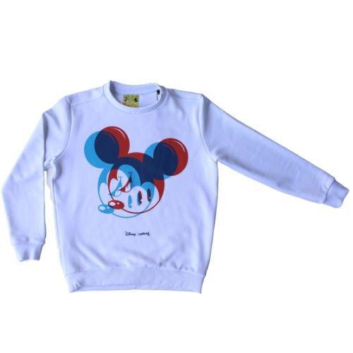 Blusa Moletom Infantil Masculina Branca Mickey 3D