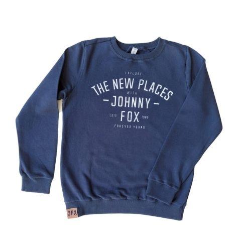 Blusa Moletom Infantil Masculina Azul Marinho Johnny Fox