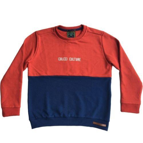 Blusa Moletom Infantil Masculina Vermelha Colcci Culture