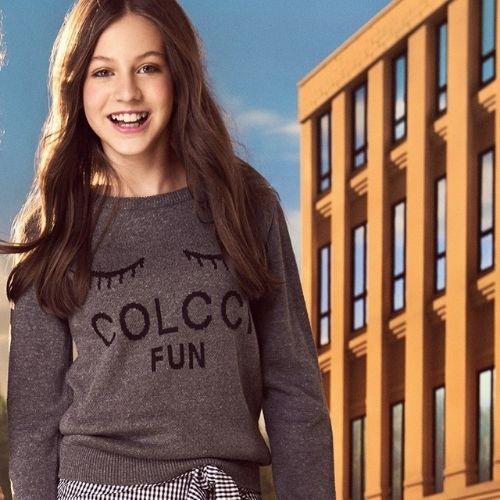 Blusa Tricô Infantil Feminina Preta Colcci Fun