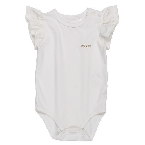 Body Bebê Feminino Branco Manga Lasie