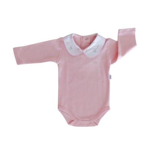 Body Bebê Feminino com Gola Bordada Coração