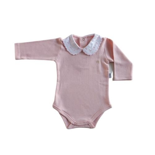 Body Bebê Feminino com Gola Bordada Lacinhos